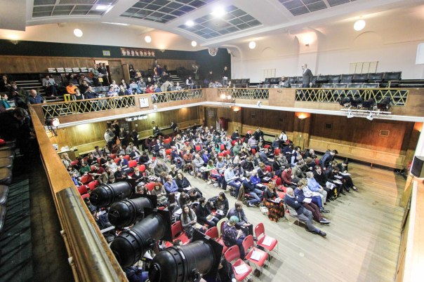 Conway Hall filling up before The Story begins